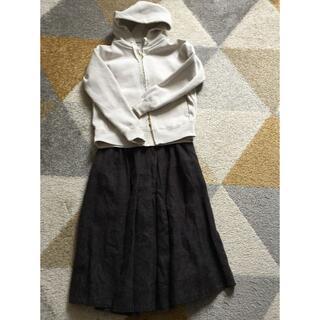 スタディオクリップ(STUDIO CLIP)のスタジオクリップ ボタニカル柄サーキュレートスカート(ひざ丈スカート)