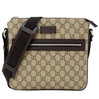 Gucci - グッチ GGプラス ショルダーバッグ PVC ブラウン 406410