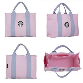 Starbucks Coffee - 台湾 スターバックス 2021年 桜限定商品 トートバッグ ポケット付 ピンク