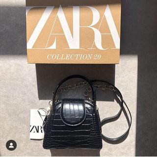 ZARA - アニマル柄ミニシティバッグ ZARA クロコ