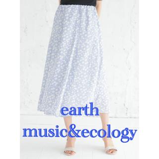 earth music & ecology - 新品 earth music&ecology 花柄 プリントフレアースカート