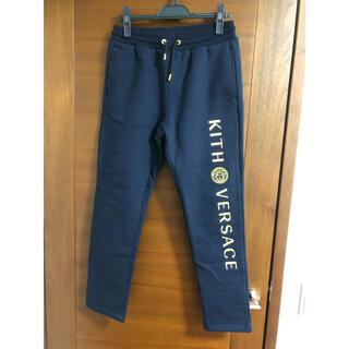 ヴェルサーチ(VERSACE)の新品 kith versace スウェットパンツ 紺 sサイズ(その他)
