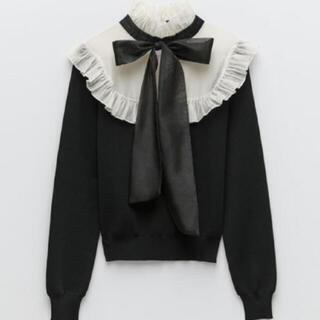 ZARA - ZARA ザラ 完売品 コントラスト ニットセーター