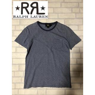 ダブルアールエル(RRL)のRRL 細ボーダー Tシャツ XS ネイビー ダブルアールエル 美品(Tシャツ/カットソー(半袖/袖なし))