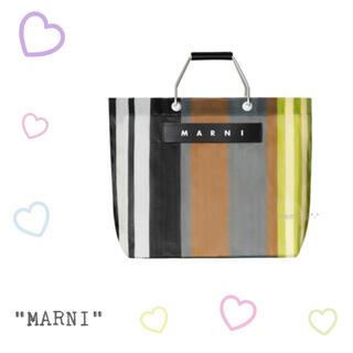 Marni - マルニマーケット♡ストライプバッグ♡ソフトベージュ♡新品タグ付き♡シアー♡