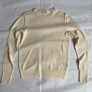UNIQLO - ユニクロ ニット セーター ファインメリのウール S アイボリー クルーネック