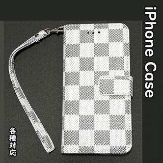 SALE★iPhone各種!チェック柄 ホワイト