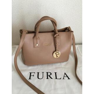 Furla - FURLA フルラ 2way レザーミニトートバッグ ベージュ