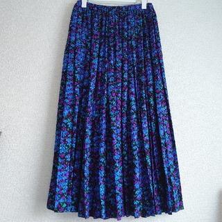 BLAMINK ブラミンク/フラワー シルク プリーツスカート