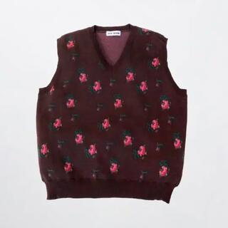 TTT_MSW 20aw flower knit vest