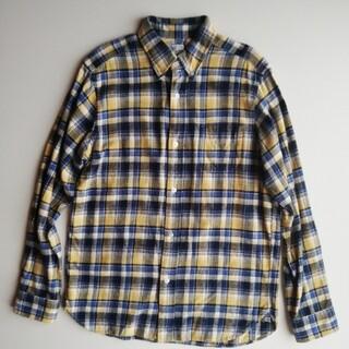 コーエン(coen)のCOEN★フランネルチェックBDワークシャツ ★美USED(シャツ)