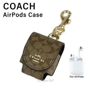 コーチ(COACH)の【COACH】コーチ シグネチャー AirPodsケース カーキ(モバイルケース/カバー)