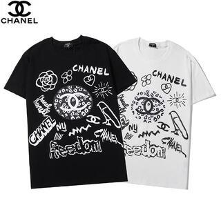 CHANEL - 3001【二枚千円引き】半袖シャネルロゴプリントTシャツ