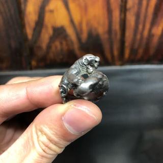 ジバンシィ(GIVENCHY)のビンテージ  レア リング イヌ GIVENCHYジバンシィカレッジリング好きに(リング(指輪))