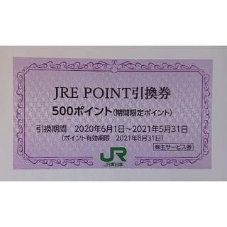 1枚 JRE POINT 500ポイント引換券 JREポイント 株主優待券