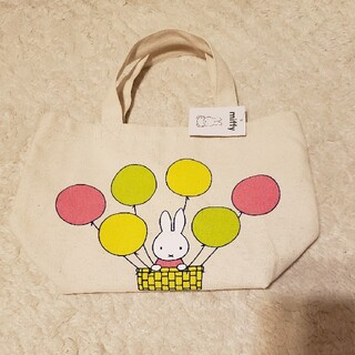 新品未使用☆ミッフィー miffyキャンパス地バッグ