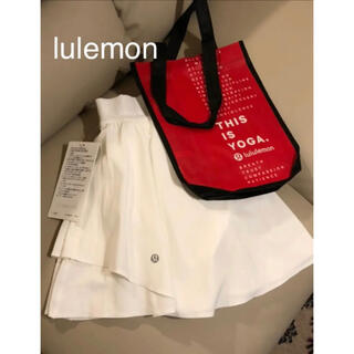 ルルレモン(lululemon)のルルレモン lulemon スパッツ付スコート 白(ウェア)