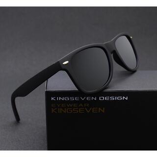 サングラス ミラー ウェリントン型 ミラーレンズ UV400 紫外線カット 黒