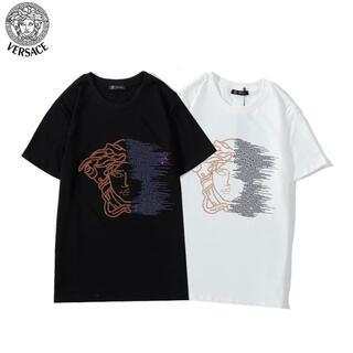 VERSACE - 新品 ヴェルサーチ#1303シンプル Tシャツ男女兼用 2枚8000円送料込み