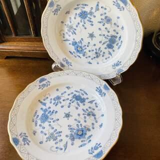 マイセン(MEISSEN)のマイセン インドの華 ブルー プレート 約20cm 2枚(食器)