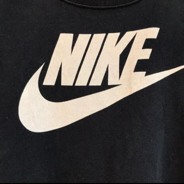 NIKE(ナイキ)のNIKEナイキ•スウェット•トレーナー•デカロゴ•ブラック•M•黒•プリント メンズのトップス(スウェット)の商品写真