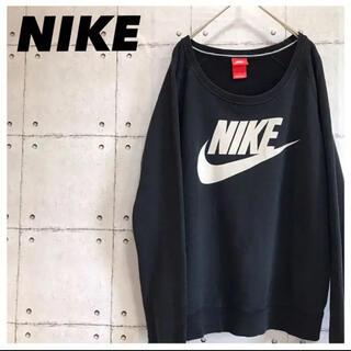 NIKE - NIKEナイキ•スウェット•トレーナー•デカロゴ•ブラック•M•黒•プリント