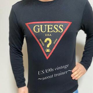 GUESS - 【一点物】GUESS レア スウェット トレーナー M メンズ 黒 90s 希少