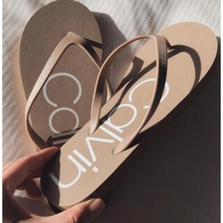 シーケーカルバンクライン(ck Calvin Klein)の新品 カルバンクライン CALVIN KLEIN CKロゴ入りサンダル24cm (サンダル)