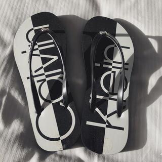 シーケーカルバンクライン(ck Calvin Klein)の新品 カルバンクライン CALVIN KLEIN CKロゴ入り サンダル24cm(サンダル)
