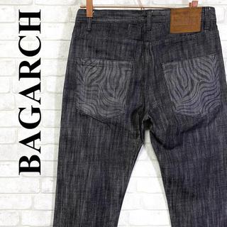 BAGARCH バガーチ ブラックデニム ボタンフライ ゼブラ柄 W32(デニム/ジーンズ)