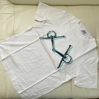 Hermes - エルメス HERMES 刺繍Tシャツ 美品