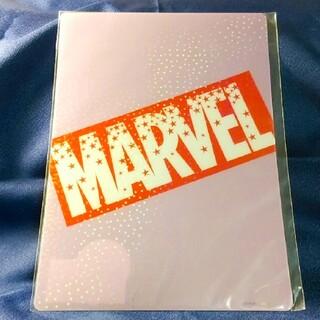 マーベル(MARVEL)のMARVEL マーベル ホログラム仕様クリアファイル 星柄 キラキラ ピンク(クリアファイル)