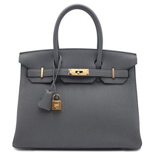 Hermes - エルメス  ハンドバッグ  バーキン30  D刻印 グレー
