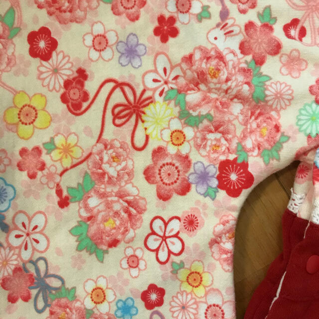 Catherine Cottage(キャサリンコテージ)の袴ロンパース 70 キッズ/ベビー/マタニティのベビー服(~85cm)(ロンパース)の商品写真
