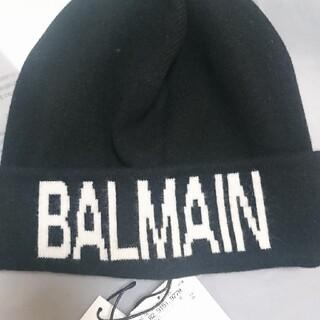 BALMAIN - ラスト一点新品低価格5,2万バルマンウールカシミヤロゴニットキャップ