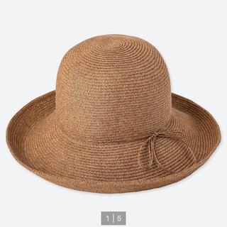 ユニクロ(UNIQLO)のアジャスタブルキャペリンハット 麦わら帽子 UNIQLO ユニクロ ブラウン(麦わら帽子/ストローハット)