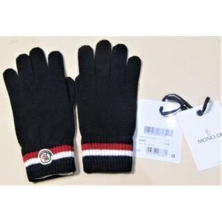 MONCLER - 未使用 モンクレール 手袋 ネイビー Mサイズ
