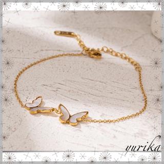4℃ - shell Butterfly bracelet *18k coating*