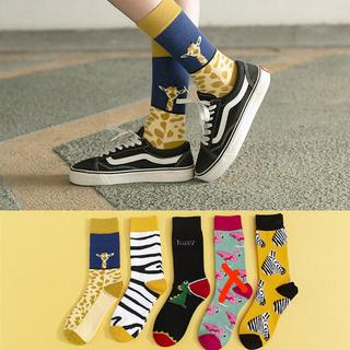 まとめ売り5足セット かわいい北欧動物ソックス 靴下 レディース 韓国人気お洒落