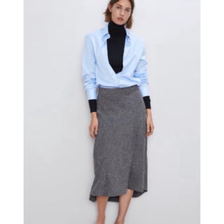 ZARA - zara メランジAラインスカート フレアスカート  H&M GU