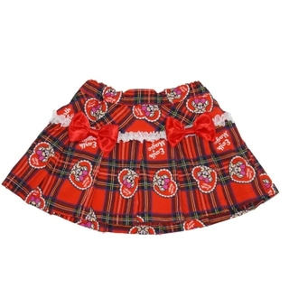 EARTHMAGIC - タータンチェック柄プリーツスカート