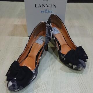 LANVIN en Bleu - ランバンオンブルー フラワープリントパンプス リボンパンプス ハイヒールパンプス