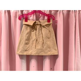 ムルーア(MURUA)の未使用 MURUA ムルーア ベアロ スカート ピンクベージュ S(ミニスカート)