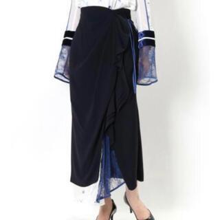 mame - mame シルクラメプリントスカート