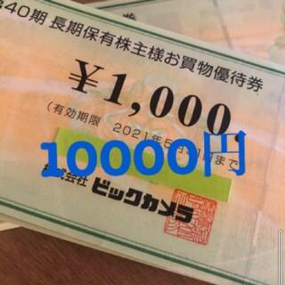 ビックカメラ  商品券  10000円分(ショッピング)