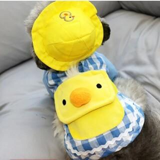 犬服  スモック Mサイズ  帽子付き