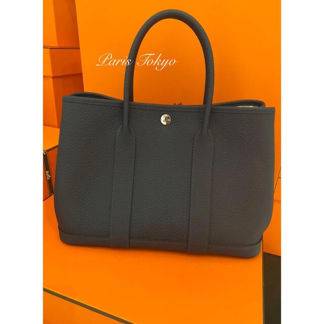 Hermes(エルメス)のエルメス ガーデンパーティーTPM ブルーニュイ カントリーレザー シルバー金具 レディースのバッグ(ハンドバッグ)の商品写真