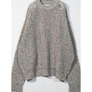 『 yoke 』large meshed crew neck rib knit
