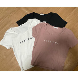 GYDA - ジェイダ テレコTシャツ ショート クロップド