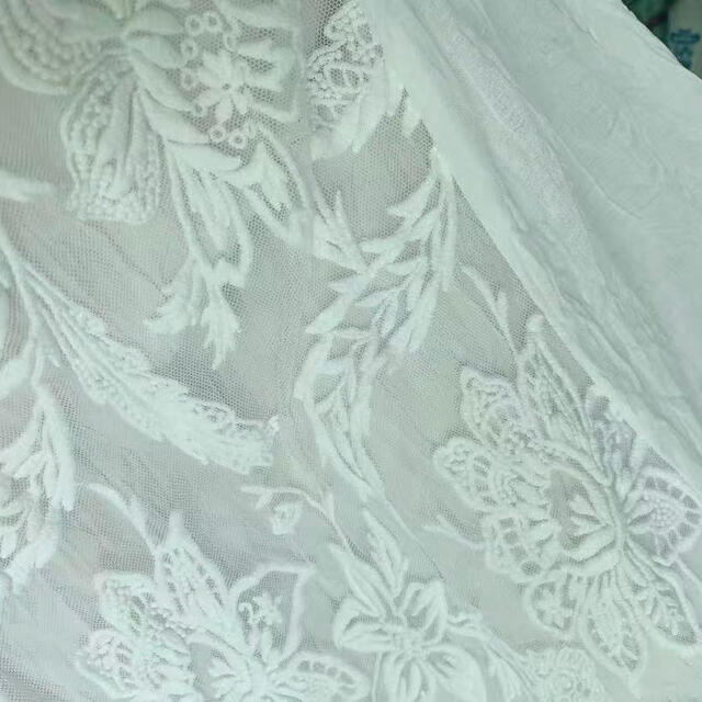Ameri VINTAGE(アメリヴィンテージ)のMEDI EMBROIDERY TULLE LACE DRESS レディースのワンピース(ロングワンピース/マキシワンピース)の商品写真